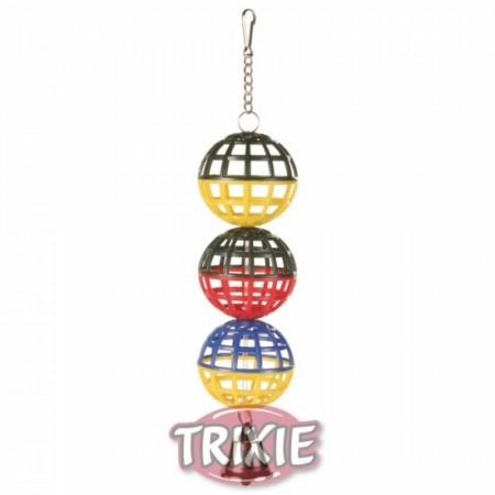 3 Pelotas jaula con Cadena y Campana, 16 cm