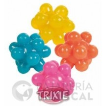 4 Pelotas Caucho, multiformas ø3.5 cm, Multicolor