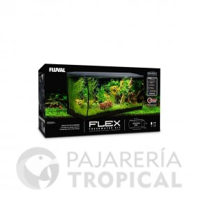 ACUARIO FLUVAL FLEX 34L NEGRO