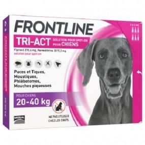 FRONTLINE TRI-ACT DE 20-40 KG (3 PIPETAS)